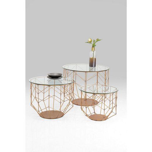 KARE Couchtisch »Couchtisch Wire Grid Messing 3Set«