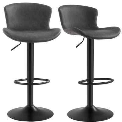 SONGMICS Barhocker »LJB074B01«, 2er Set Barstühle, schwarz