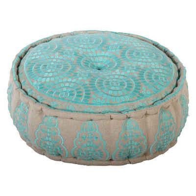 Casa Moro Chillkissen »Orientalisches Bodenkissen Naima Ø 60cm Höhe 20cm mit Füllung, Handmade Pouf rund, Yogakissen Sitzkissen Polsterhocker für einfach schöner Wohnen«, in drei Farben