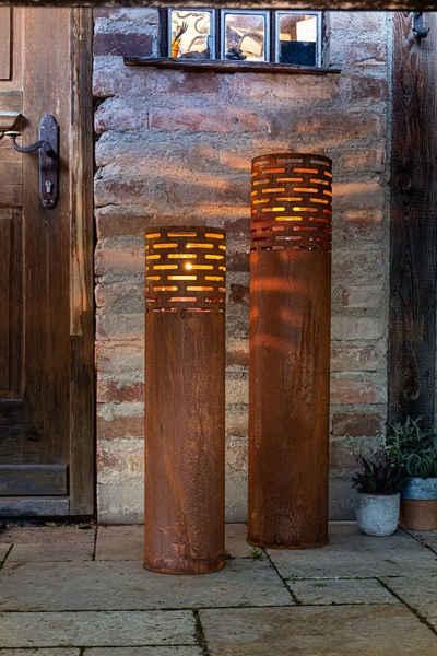 HomeLiving Windlicht »Rost-Säule«