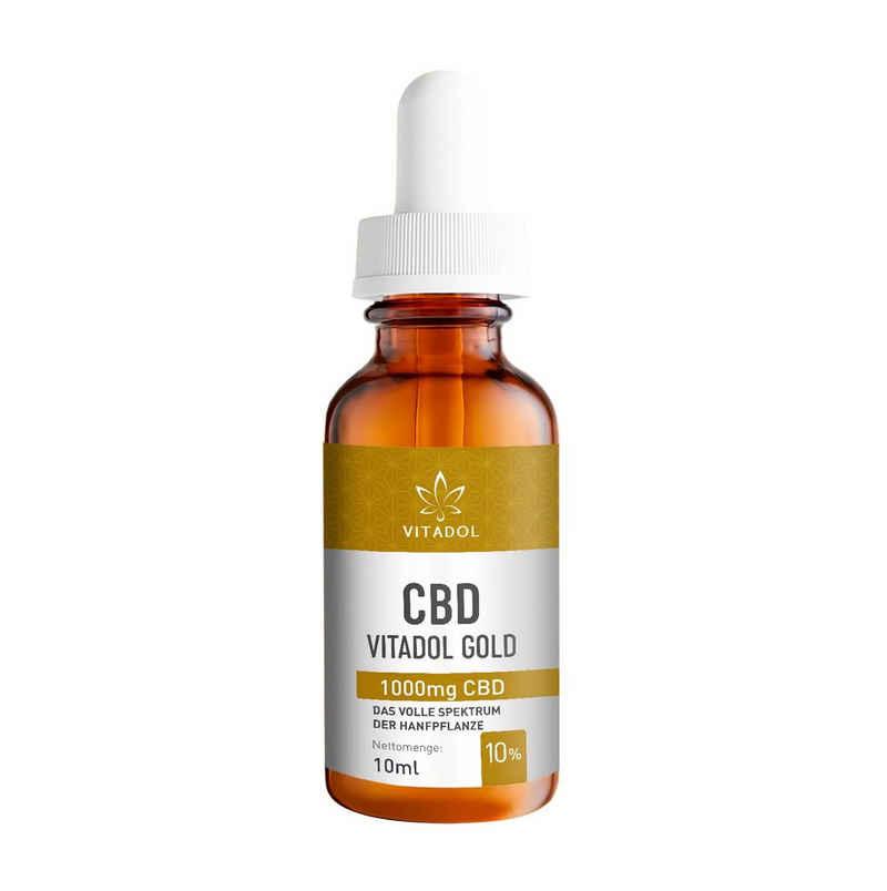 Vitadol Mundpflegecenter »Vitadol Gold 10% CBD Öl«, auf Basis von Bio-Hanfsamenöl