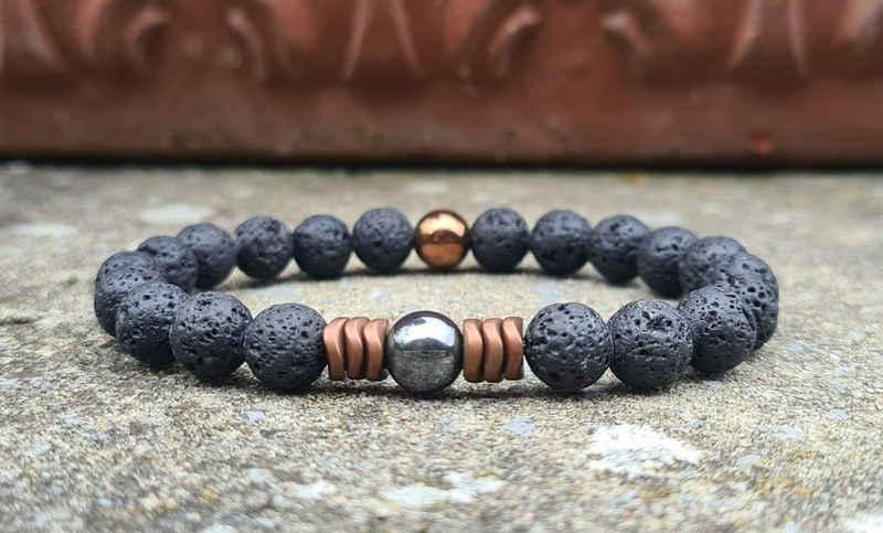 NAHLE Perlenarmband »Herren Naturstein Armband«