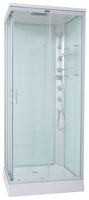 Duschen und Zubehör - HOME DELUXE Komplettdusche »Venus S«, BxT 90x80 cm, Sicherheitsglas, 1 tlg., inkl. Kopf Regenbrause  - Onlineshop OTTO