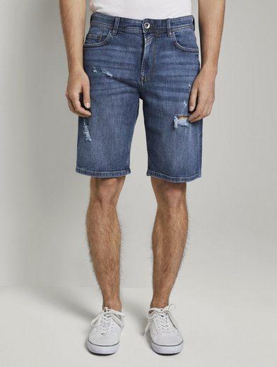 TOM TAILOR Denim Jeansbermudas »Loose Fit Jeansshort in 90er Waschung«