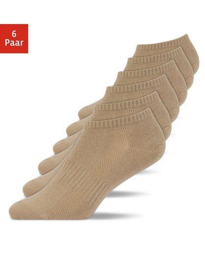 SNOCKS Sneakersocken »Sneaker Socken für Herren & Damen« (6-Paar) formbeständig, Anti-Schweiß-Streifen