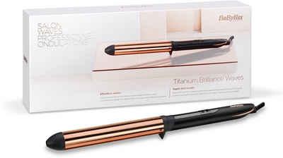 BaByliss Lockenstab C455E Titanium Brilliance Waves, Titanium-Keramik-Beschichtung, 28mm