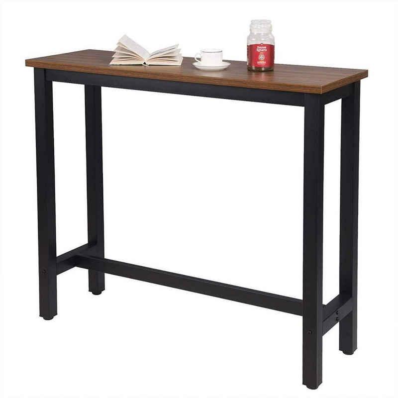 Woltu Bartisch »BT17«, Bistrotisch Stehtisch Esstisch, Metallgestell, Tischplatte aus MDF, 120x40x100cm(BxTxH)