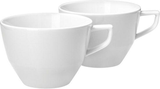 Joop! Tasse »JOOP! SINGLE CORNFLOWER«, Porzellan, mit einzelner Kornblume als Dekor, 2-teilig