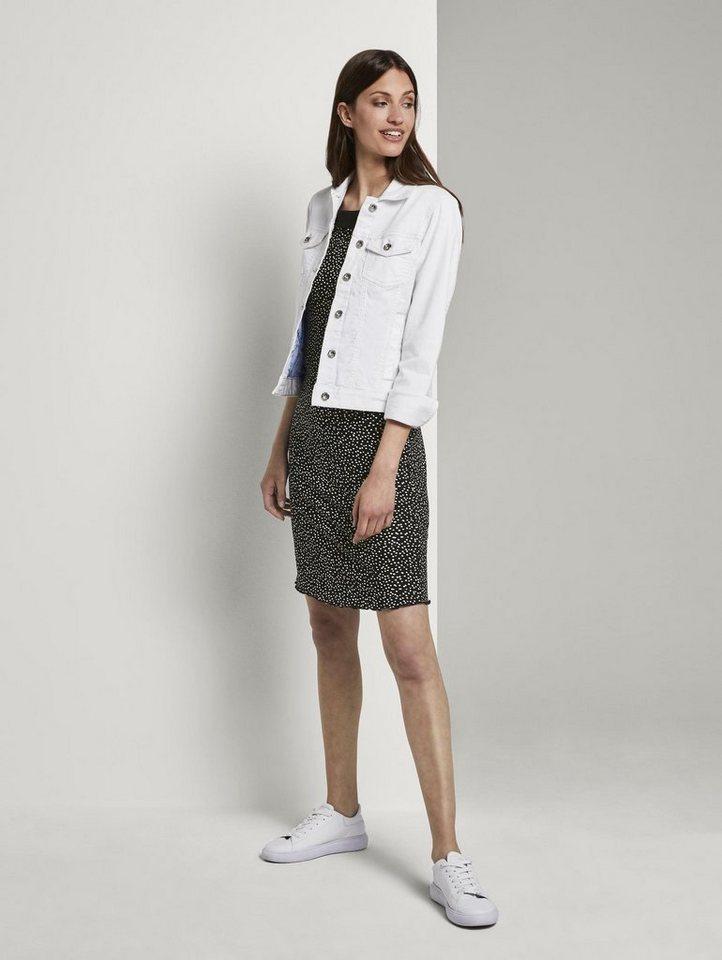 tom tailor -  Jerseykleid »Ärmelloses Neckholder-Kleid mit Print«