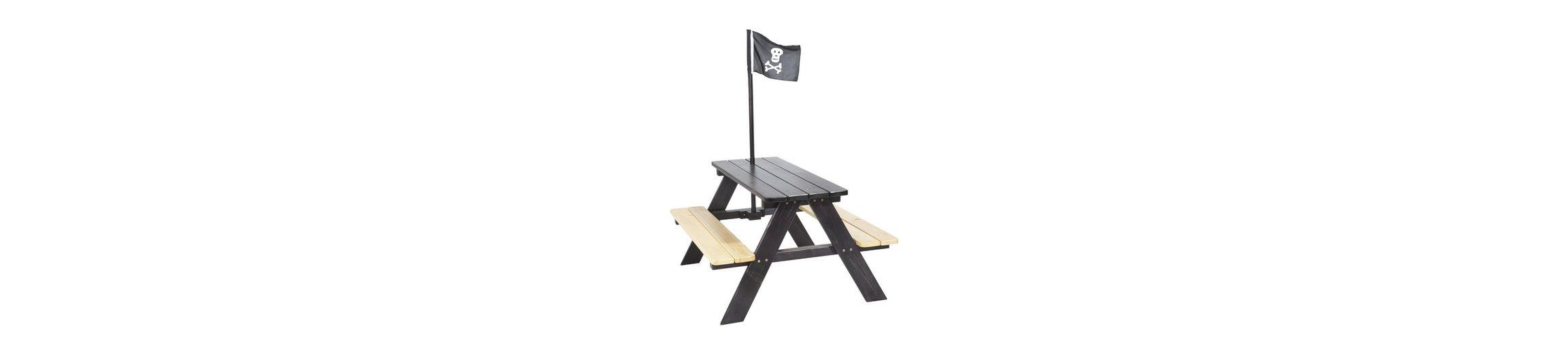 Pinolino Kindersitzgarnitur aus Holz mit Fahne »Nicki für 4 - Pirat«