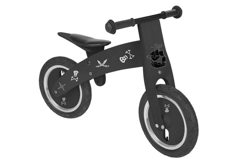 Pinolino Laufrad aus Holz »Pirat« in schwarz