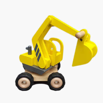 goki Spielzeug-Bagger »Holz Bagger Goki«, Aus Holz gefertigt.