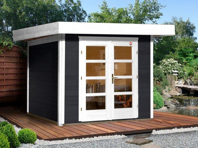 Weka Gartenhaus Chill-Out Gr. 3, BxT: 295x300 cm, anthrazit/weiß