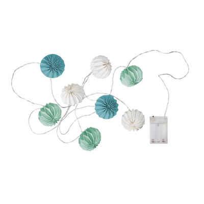 BUTLERS Lichterkette »HANAMI LED-Lampions 8 Lichter mit USB-Batteriefach«