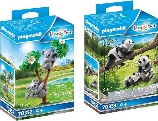 Playmobil® Konstruktions-Spielset »Koalas mit Baby (70352) und Pandas mit Baby (70353), Family Fun«, (Set), Made in Europe