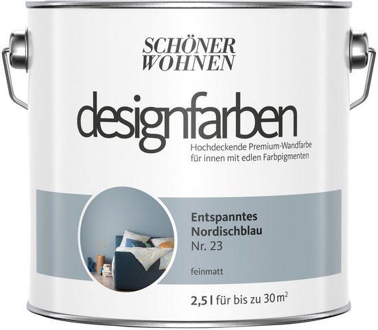 SCHÖNER WOHNEN-Kollektion Wand- und Deckenfarbe »Designfarben«, entspanntes Nordischblau Nr. 23, feinmatt 2,5 l