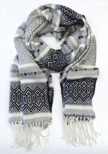 Chaplino Schal mit stylischem Ethno-Muster