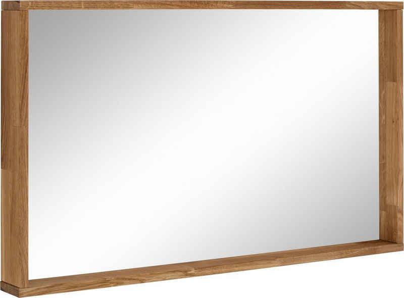 OTTO products Wandspiegel »Onnika«, Rahmen aus FSC-zertifiziertem Massivholz Eiche, Breite 100 cm, vegan, mit pflanzlichem Bio Öl behandelt