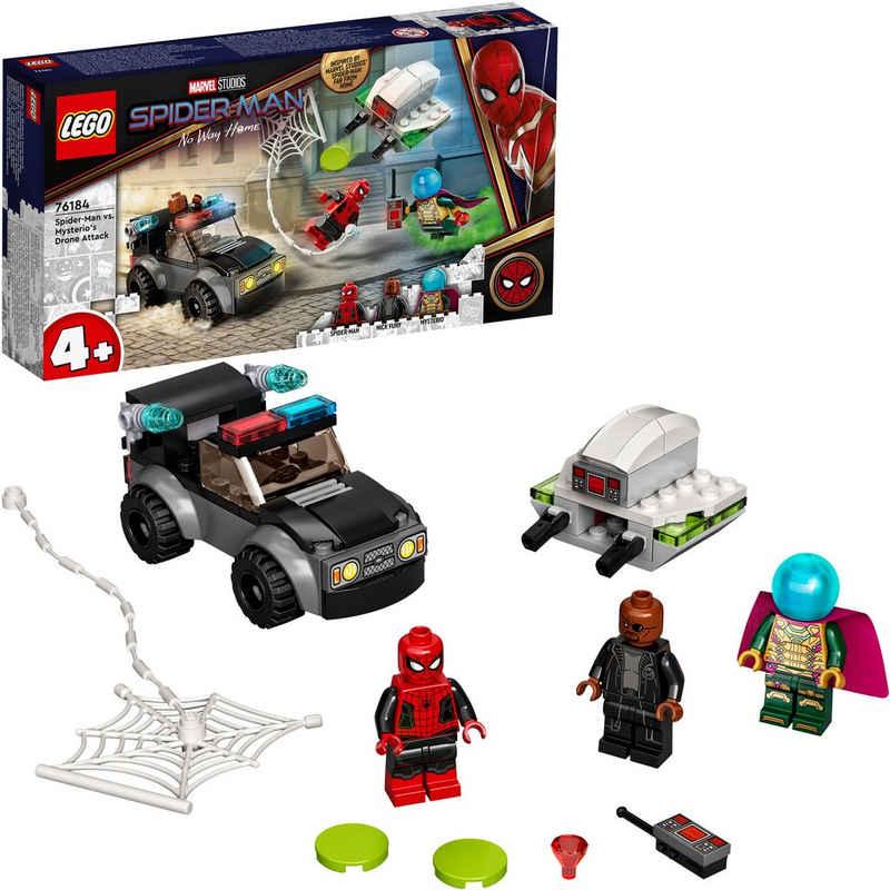 LEGO® Konstruktionsspielsteine »Mysterios Drohnenattacke auf Spider-Man (76184), LEGO® Marvel Super Heroes«, (73 St), Made in Europe
