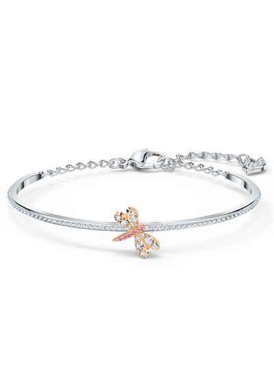 Swarovski Armreif »Eternal Flower, rosa, Metallmix, 5518138«, mit Swarovski® Kristallen