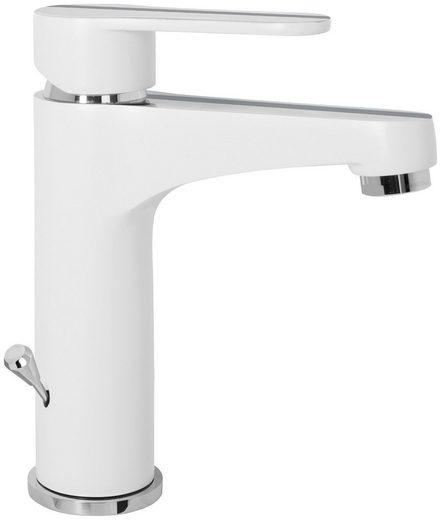 CORNAT Waschtischarmatur »NAVIA« Wasserhahn chrom-weiß