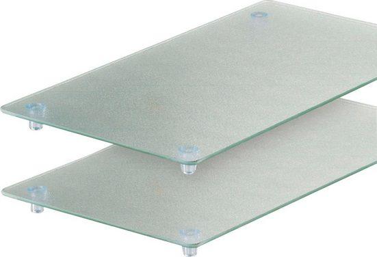 Zeller Present Schneide- und Abdeckplatte, ESG-Sicherheitsglas, (Set, 2 tlg)