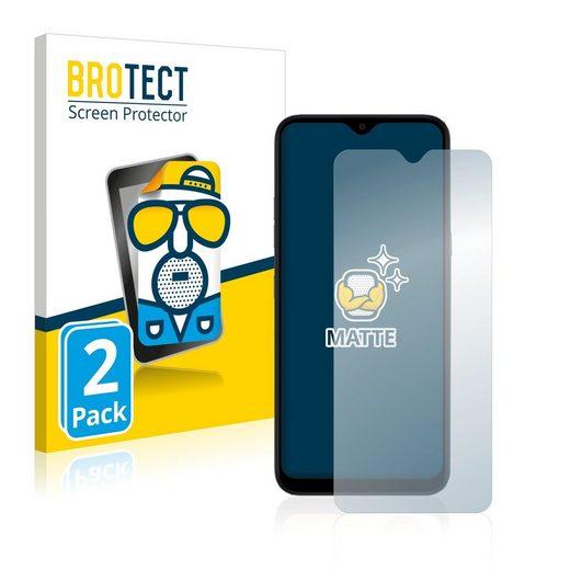 BROTECT Schutzfolie »für LG K41S«, (2 Stück), Folie Schutzfolie matt entspiegelt
