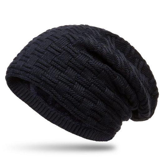 Caspar Beanie »MU133 warme Feinstrick Mütze mit weichem Fleece Innenfutter«