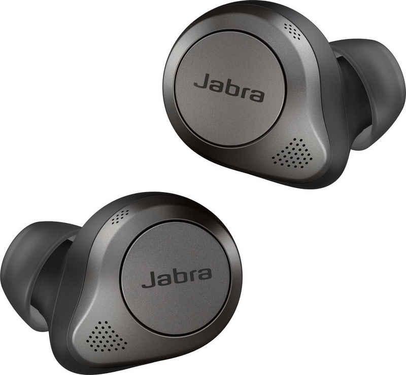 Jabra »ELITE 85t« In-Ear-Kopfhörer (Active Noise Cancelling (ANC), kompatibel mit Siri, Google Now, Sprachsteuerung, integrierte Steuerung für Anrufe und Musik, True Wireless, Google Assistant, Siri, Bluetooth, Jabra Advanced ANC - Active Noise Cancellation)