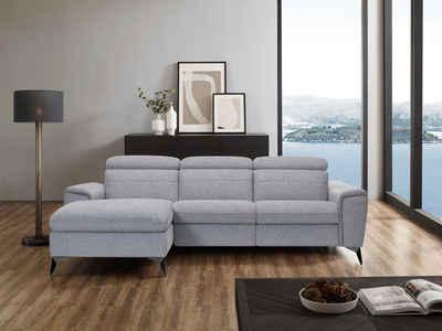 Places of Style Ecksofa »Theron«, elektrische Relaxfunktion, USB-Anschluss, manuelle Kopfteilverstellung