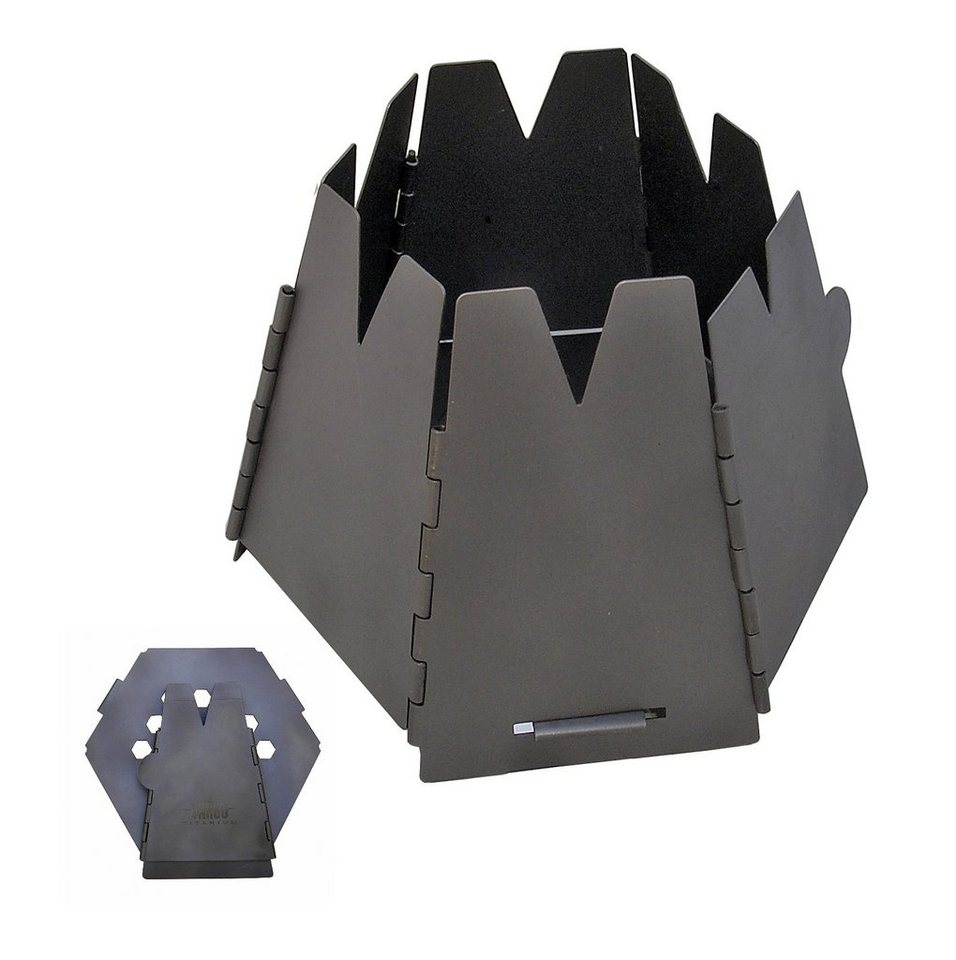 Vargo Camping-Kocher »Hexagon Holzofen Titan« in grau
