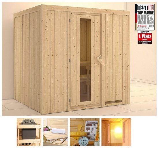 KONIFERA Sauna »Sanna«, 196x170x198 cm, ohne Ofen, Energiespartür