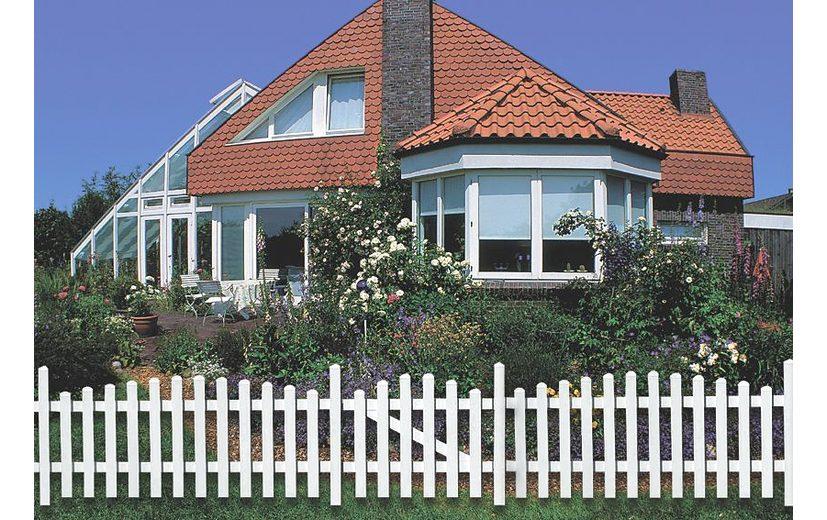 Zaun-Einzeltür gerade »114 x 80 cm weiß«