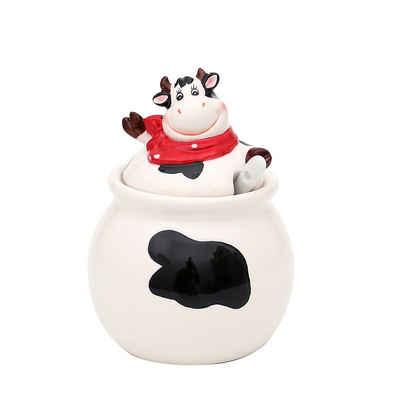 Dekohelden24 Zuckerdose »Keramik Zuckerdose Kuh.«, Keramik, (1-tlg)