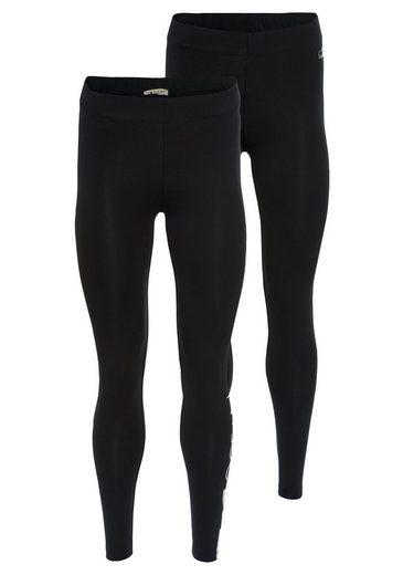 Ocean Sportswear Leggings (Packung, 2-tlg., 2er-Pack) mit Kontraststreifen und Logodruck
