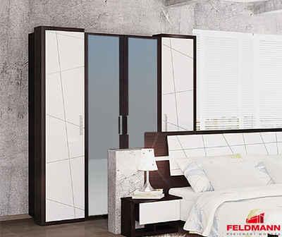 Feldmann-Wohnen Kleiderschrank »BARCELONA« B/T/H: 176 cm x 60 cm x 206 cm