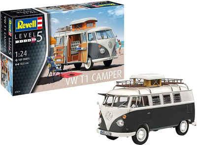 "Revell® Modellbausatz »Volkswagen ""Bulli"" - VW T1 Camper - Campingbus zum Selberbauen«, Maßstab 1:24"