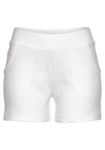 Hosen - AJC Shorts aus Sweat Ware › weiß  - Onlineshop OTTO