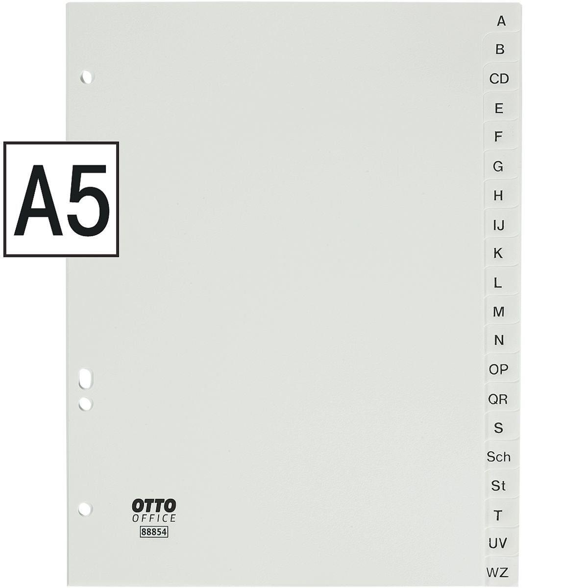 OTTO Office Standard Kunststoffregister A-Z A5 weiß