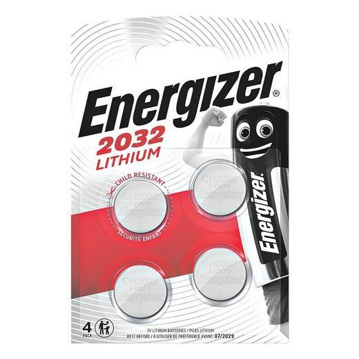 Energizer »Spezial Lithium« Knopfzelle, (4 St), CR 2032, lange Lebensdauer