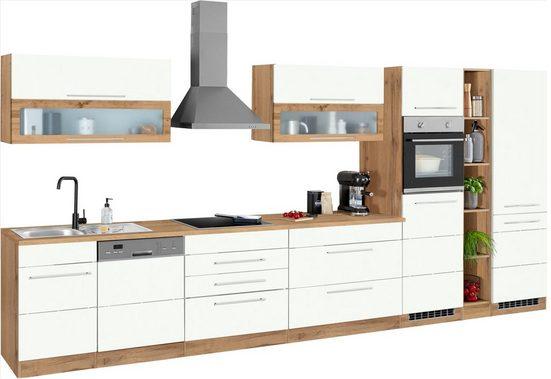 HELD MÖBEL Küchenzeile »Wien«, mit E-Geräten, Breite 440 cm, wahlweise mit Induktion