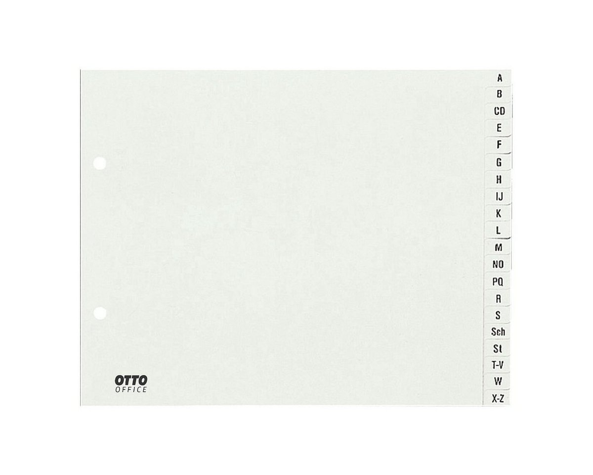 OTTOOFFICE STANDARD Kunststoffregister A-Z halb A4 weiß