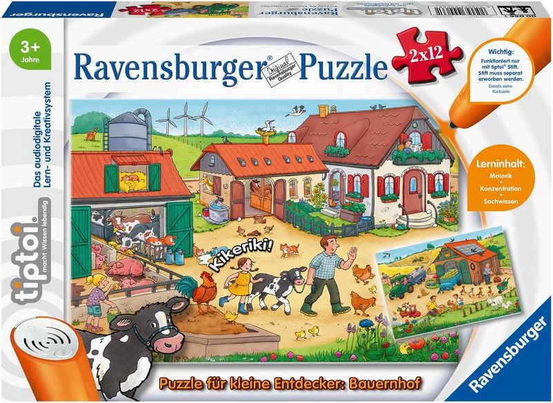 Ravensburger Puzzle »tiptoi® Puzzle für kleine Entdecker: Bauernhof«, 12 Puzzleteile, Made in Europe; FSC® - schützt Wald - weltweit