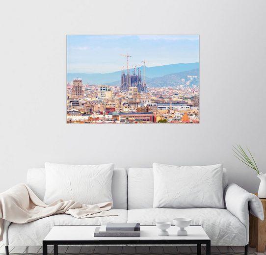 Posterlounge Wandbild, Barcelona mit der Kathedrale von Gaudí