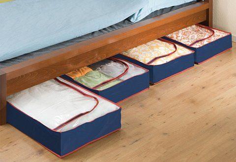 WENKO Unterbettkommode (Set, 4 Stück), aus recyclingfähigem Material