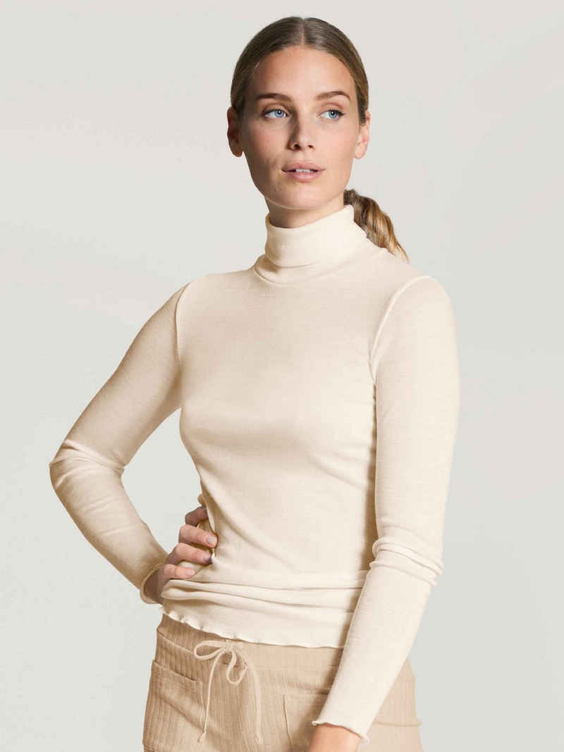 CALIDA Pyjamaoberteil »Langarm-Shirt, Rollkragen« (1-tlg)