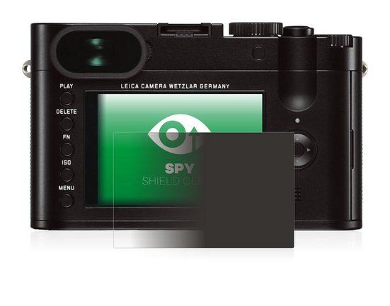upscreen Schutzfolie »für Leica Q (Typ 116)«, Folie Schutzfolie Sichtschutz klar anti-spy