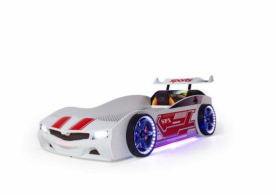 Möbel-Lux Kinderbett »SPX«, Autobett mit Fernbedienung Sound & Licht, Bluetooth connection