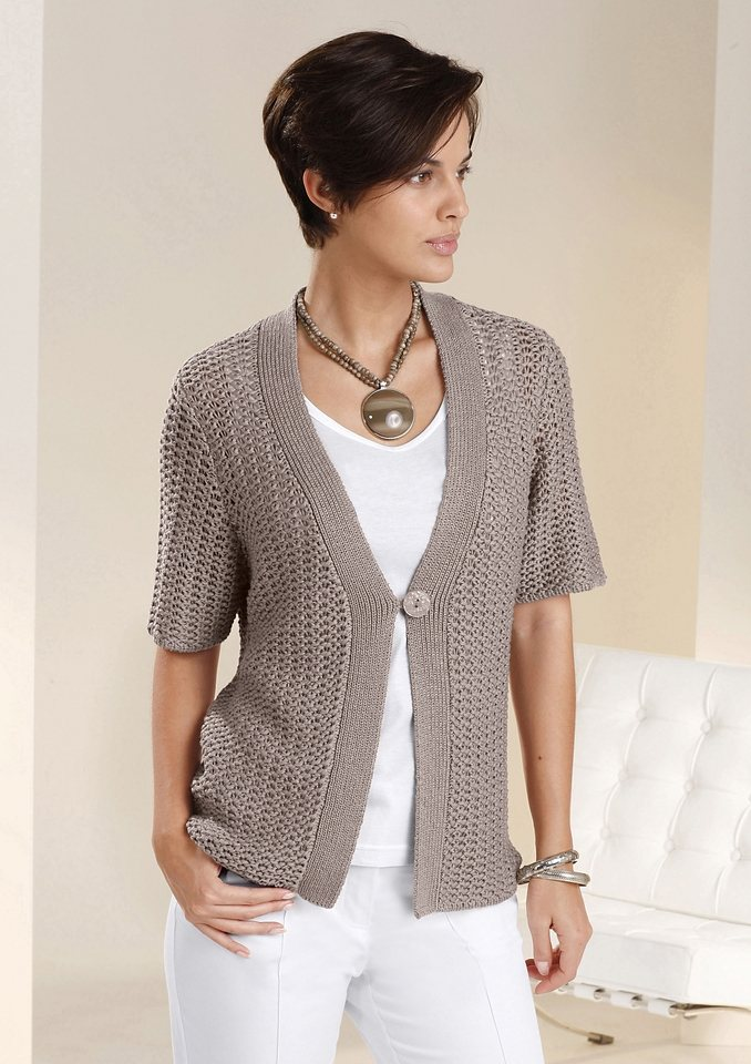 Strickjacke in taupe