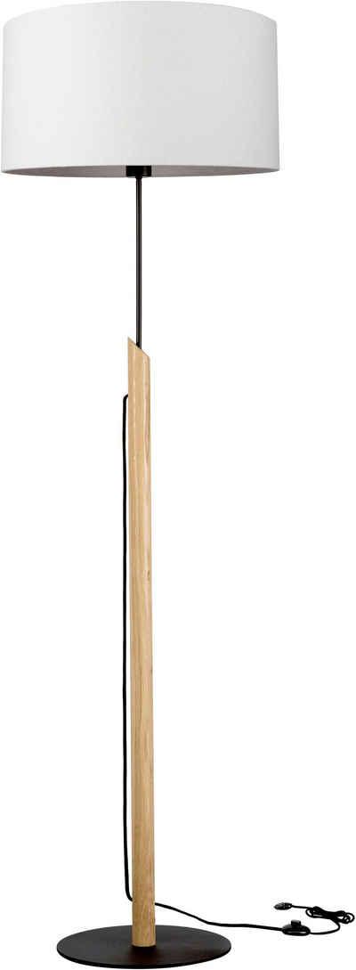 andas Stehlampe »GJOVIK«, Fuß der Stehleuchte aus edlem Eichenholz, hochwertiger Textilschirm, Made in Europe